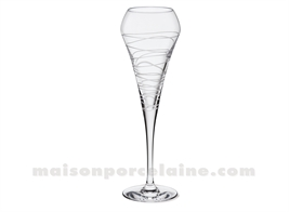 FLUTE A CHAMPAGNE DEGUSTATION OPEN UP EFFERVESCENT ARABESQUE 20CL H23.4CM - (KWARX)
