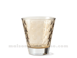 GOBELET BAS / EAU / WHISKY OPTIC MARRONE 9X8.5 25CL