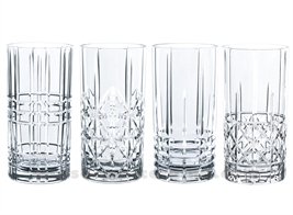 GOBELET HAUT / SODA / LONG DRINK HIGHLAND H15.5CM SET/4