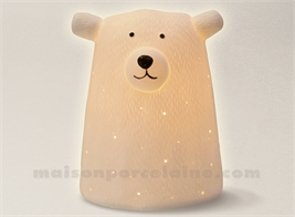 LAMPE BISCUIT - OURS BLANC 13X11.6X16.2C