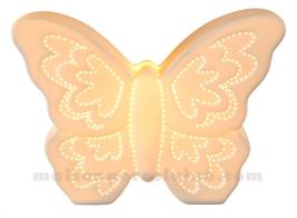 LAMPE BISCUIT - PAPILLON H18.3-26X10.5CM