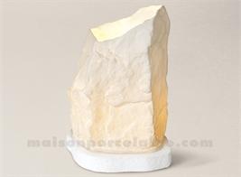 LAMPE BISCUIT PORCELAINE DE LIMOGES HERVE H23-15X11CM+SOCLE H2CM