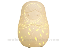 LAMPE BISCUIT PORCELAINE - LED MINI  - MATRIOCHKA H13