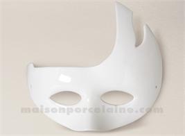 MASQUE DE CARNAVAL PORCELAINE BLANCHE A PEINDRE 22.5X18X180X180X180X180