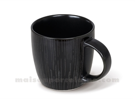 MUG GRES PLATE MEDARD DE NOBLAT MAGMA BLACK 28CL