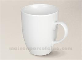 MUG PORCELAINE BLANCHE ARTOIS 10.5X8.3 CM 37CL