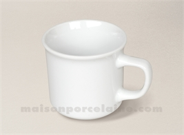 MUG PORCELAINE BLANCHE EXPRESSO TIMBALE 7X6.5