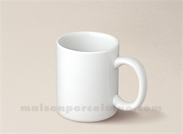 MUG PORCELAINE BLANCHE MINI 9CL