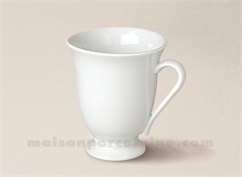 MUG PORCELAINE BLANCHE SUR PIED CAFE LOUISE 10CL