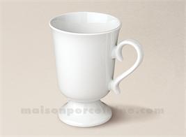 MUG PORCELAINE BLANCHE SUR PIED IRISH CAFE 20CL4 20CL4 20CL
