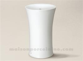 PIED DE LAMPE LIMOGES PORCELAINE BLANCHE CRISTAL 29X18