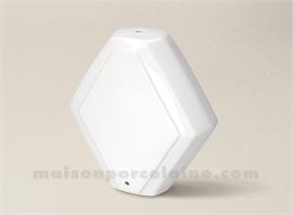 PIED DE LAMPE LIMOGES PORCELAINE BLANCHE LOSANGE 25.5X25.25.5