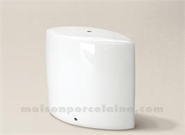 PIED DE LAMPE LIMOGES PORCELAINE BLANCHE REBECCA N°3 18,5CM