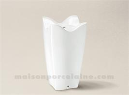 PIED DE LAMPE LIMOGES PORCELAINE BLANCHE TULIPE 21X29