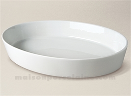 PLAT A FOUR OVALE SABOT EXTRA PORCELAINE BLANCHE 38X27