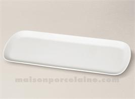 PLAT CAKE PORCELAINE BLANCHE SOLOGNE 37X15