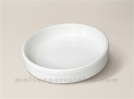 PLAT CREME BRULEE PORCELAINE BLANCHEE 3 TOQUES 13.5X3