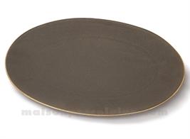 PLAT OVAL PORCELAINE OKRA MAHOGANY 36X25,5CM