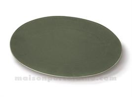 PLAT OVAL PORCELAINE OKRA OLIVE 30.5X21CM