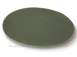 PLAT OVAL PORCELAINE OKRA OLIVE 36X25,5CM