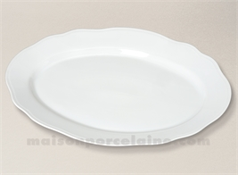 PLAT OVALE LIMOGES PORCELAINE BLANCHE COLBERT