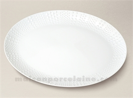 PLAT OVALE PATE EXTRA BLANCHE LIMOGES SANIA 37.5X22