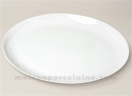 PLAT OVALE PORCELAINE BLANCHE GALA GM 37X27