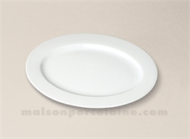 PLAT OVALE/RAVIER PORCELAINE BLANCHE OVALE AILE SOLOGNE 25.5X18.5