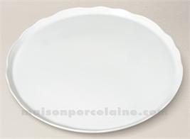 PLAT TARTE LIMOGES PORCELAINE BLANCHE COLBERT