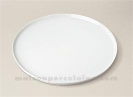 PLAT TARTE PORCELAINE BLANCHE BISTRO D30
