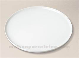 PLAT TARTE PORCELAINE BLANCHE BISTRO D33