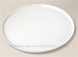 PLAT TARTE PORCELAINE BLANCHE BISTRO D36