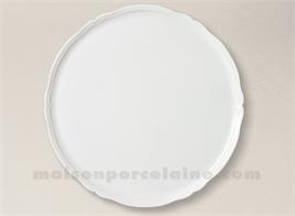 PLAT TARTE PORCELAINE BLANCHE CLARA 30