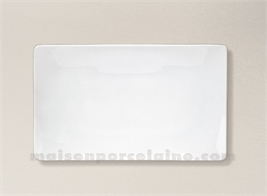 PLAT/ASSIETTE RECTANGULAIRE PORCELAINE BLANCHE COLORADO 23X14CM