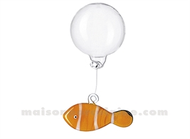 POISSON ORANGE-BLANC 5X3CM