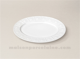 RAVIER LIMOGES PORCELAINE BLANCHE OSMOSE 24X17