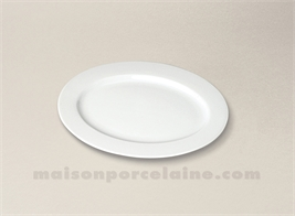 RAVIER PORCELAINE BLANCHE OVALE AILE SOLOGNE 25.5X18.5