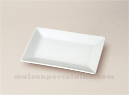 RAVIER PORCELAINE BLANCHE RECTANGULAIRE KYOTO 13X8.5