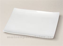 RECTANGULAR PLATE / PLATTER 'SEOUL' WITH GLAZED BACK 32,5X22,5
