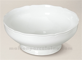 SALADIER LIMOGES PORCELAINE BLANCHE COLBERT GM