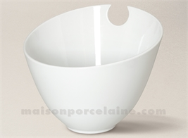 SALADIER PORCELAINE BLANCHE CONIQUE ENCOCHE 19.5X24
