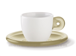 SET 6 PORCELAIN EXPRESSO CUP WITH ACRYLIC HANDLE AND SAUCER 25X17X9 5CL
