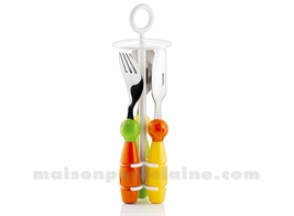 SET DINNER ENFANT GARCON MULTICOLOR BILLO 21X6.5X6.5 6 PIECES