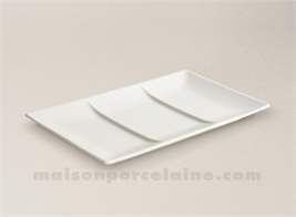 SQUARE PLATE / TRAY WITH 3 COMPARTMENTS 25X15X2CM STOCKHOLM IVOIRY