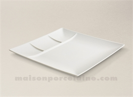 SQUARE PLATE / TRAY WITH 3 COMPARTMENTS 26X26X2.5CM STOCKHOLM IVOIRY