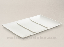 SQUARE PLATE / TRAY WITH 3 COMPARTMENTS 30X19.X2.5CM STOCKHOLM IVOIRY