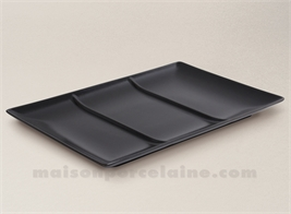 SQUARE PLATE / TRAY WITH 3 COMPARTMENTS 30X30X2.5CM STOCKHOLM BLACK