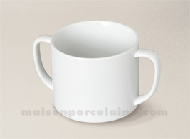 TASSE BABY PORCELAINE BLANCHE DROITE 2 ANSES