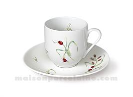TASSE CAFE BOULE+SOUCOUPE FLANDRE 10CL
