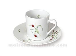 TASSE CAFE EMPIRE+SOUCOUPE SOLOGNE 10CL